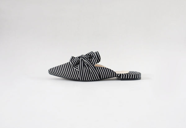Arca - Twisted Mules Black Stripes