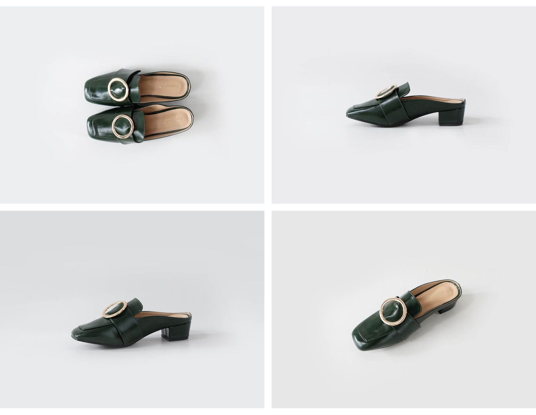 Chloe Loafer Mules Green