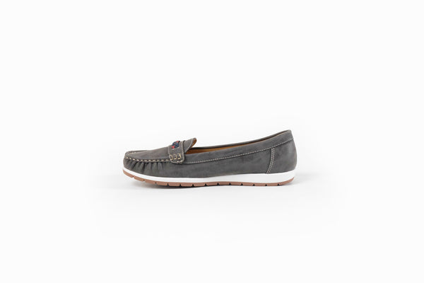 Ciara Braided Loafers Grey