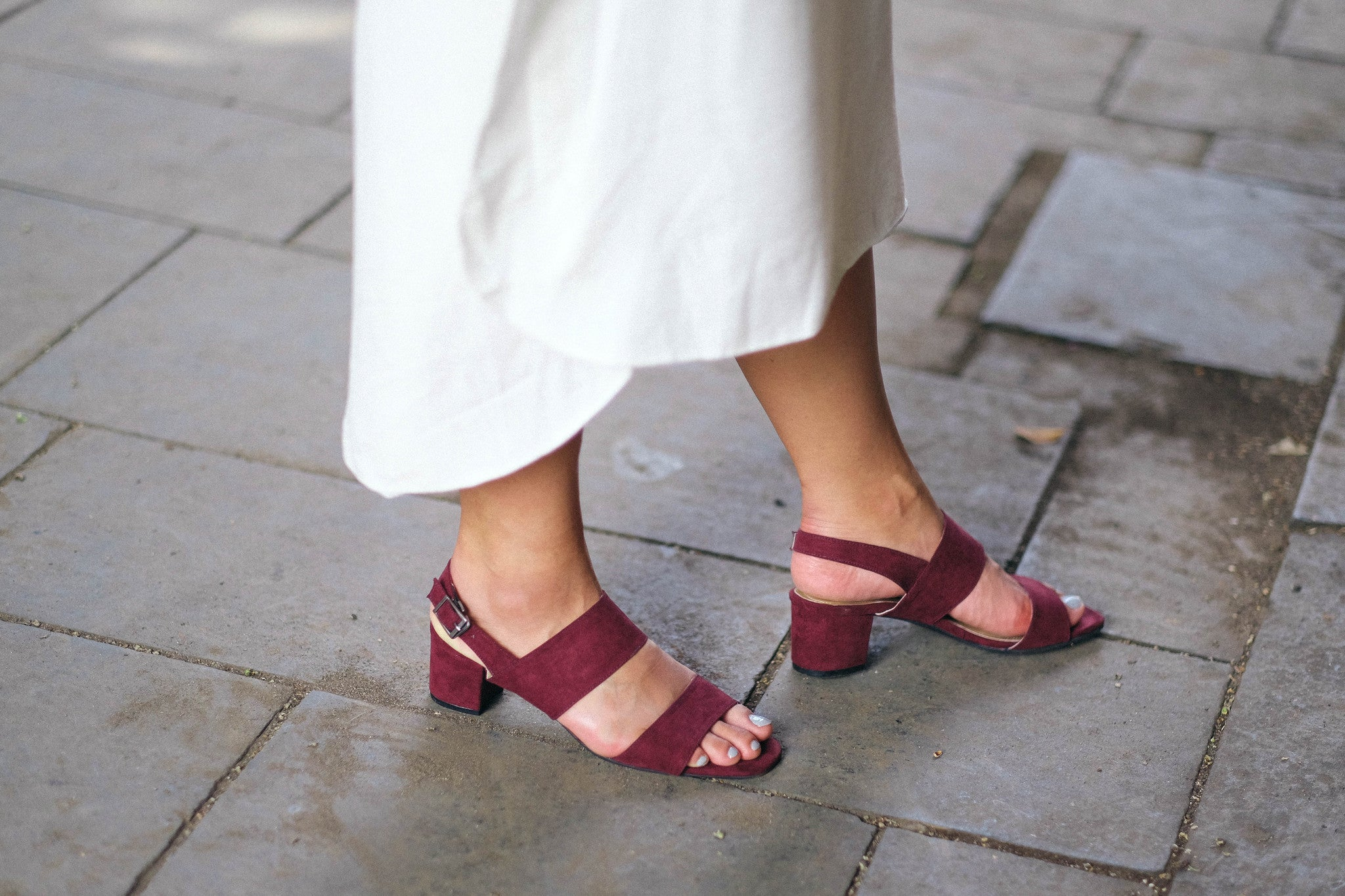 Lana Open Toe Sandals Maroon