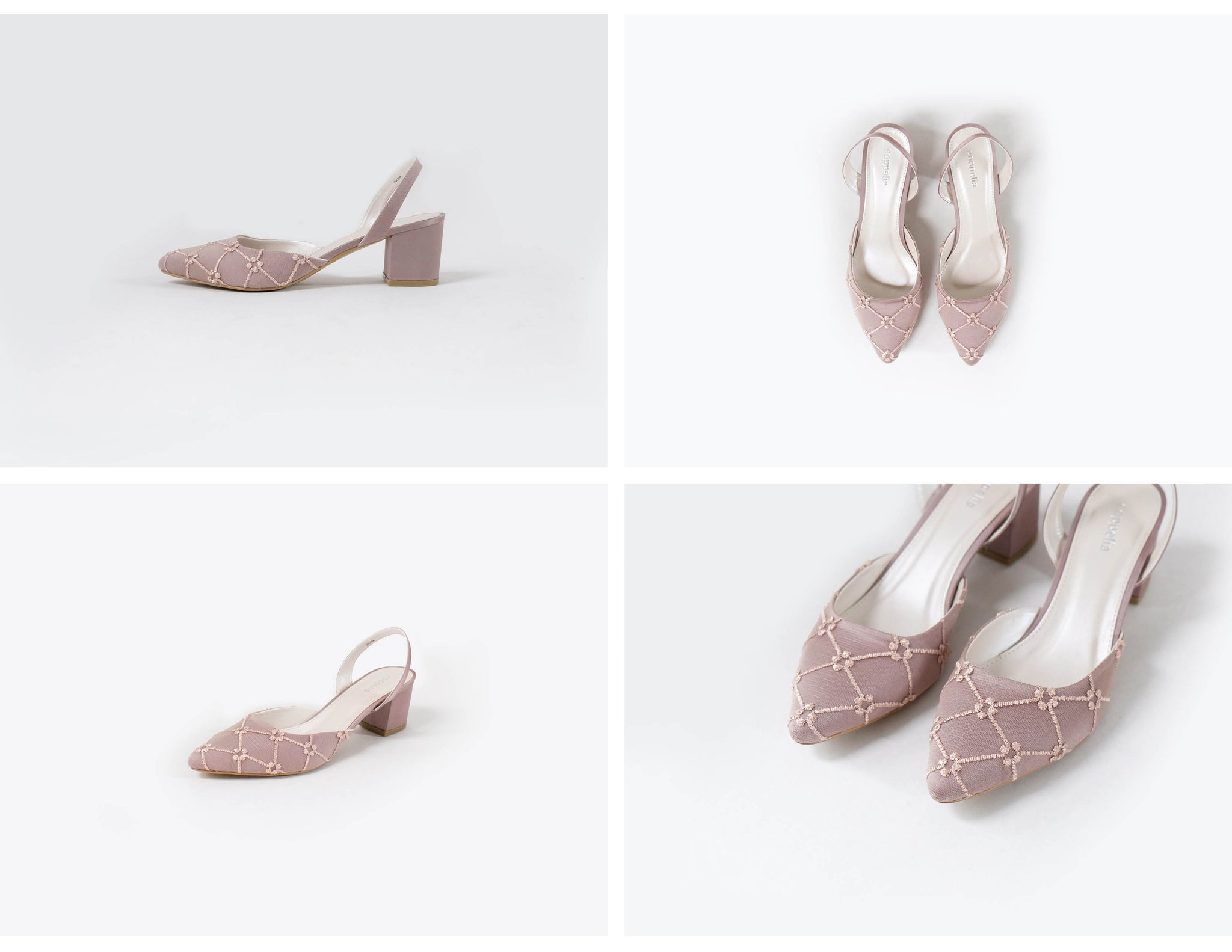 Dana Laced-Sling Back Heels (Limited Edition) Blush