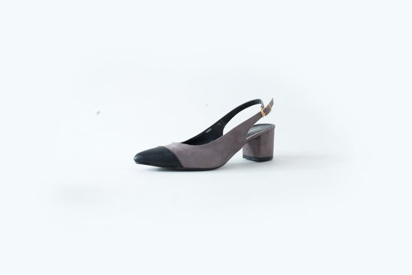 Marci Two-Toned Slingback Shoes Grey