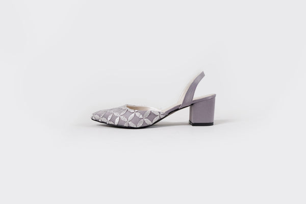Dana Laced-Sling Back Heels (Limited Edition) Grey