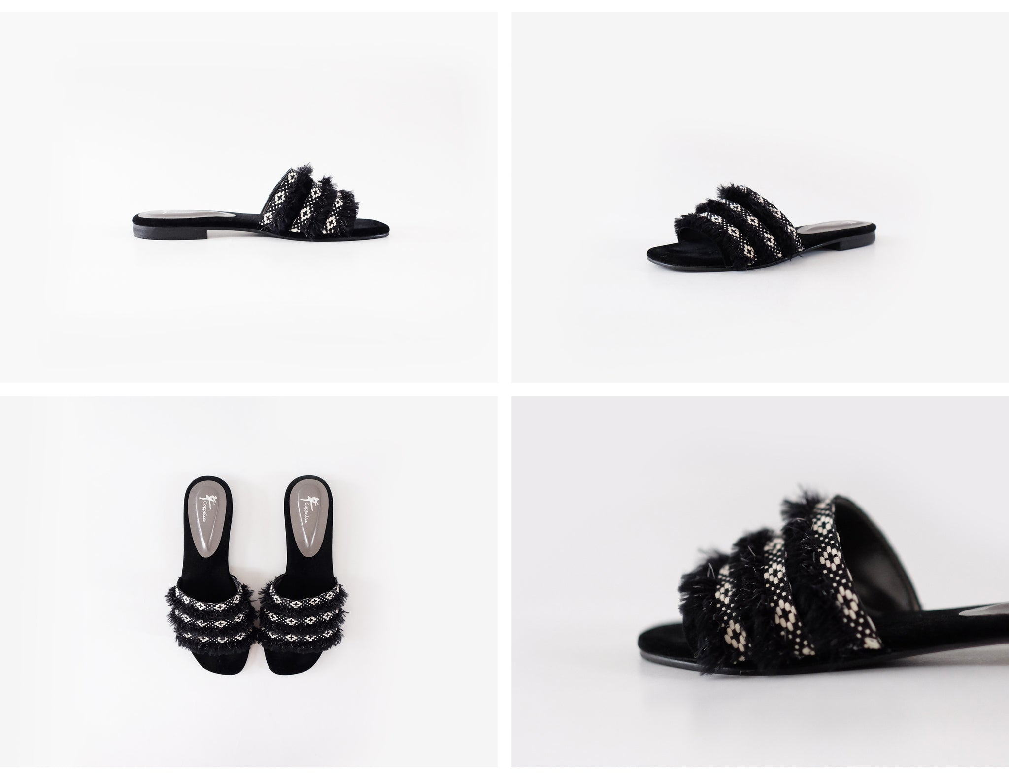 Tiki Open Toe Mules Black