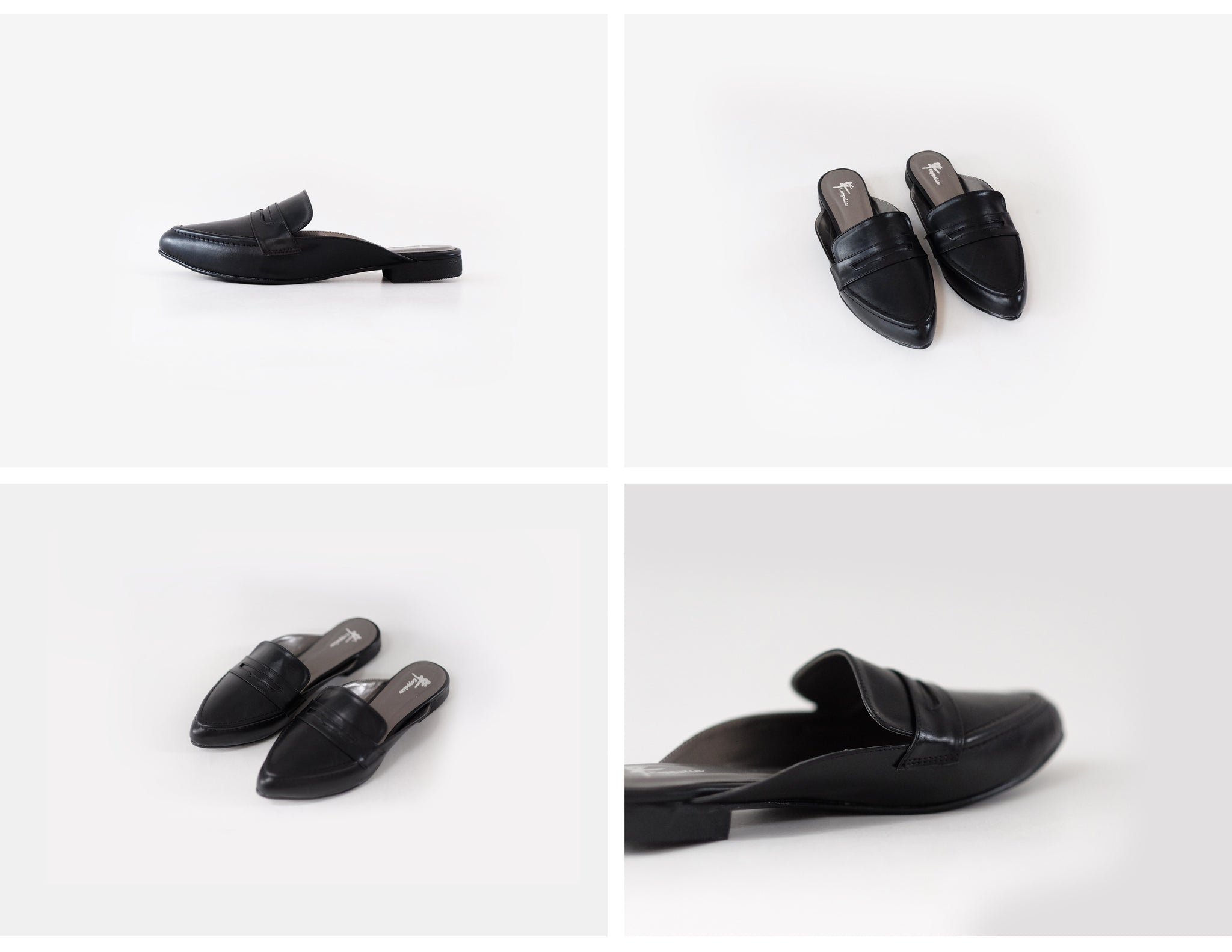 Levi Loafer Mules Black
