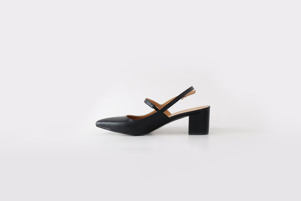 Eva Mary-Jane Mid Heels Black
