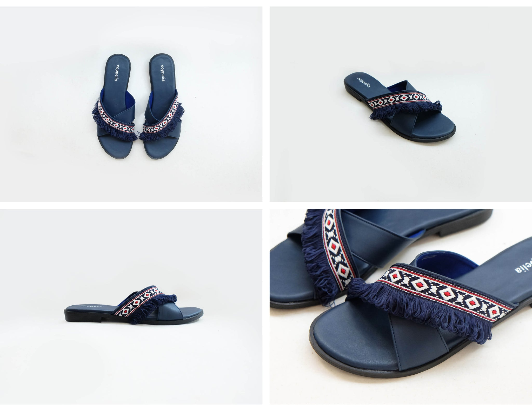 Honolulu Crossover Sandals Navy