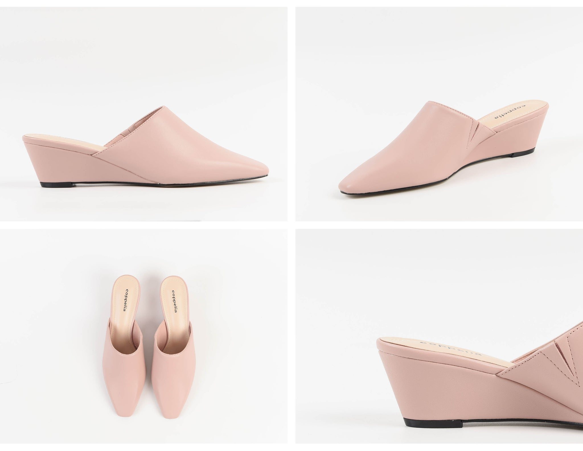 Willa Wedges Mules Pink