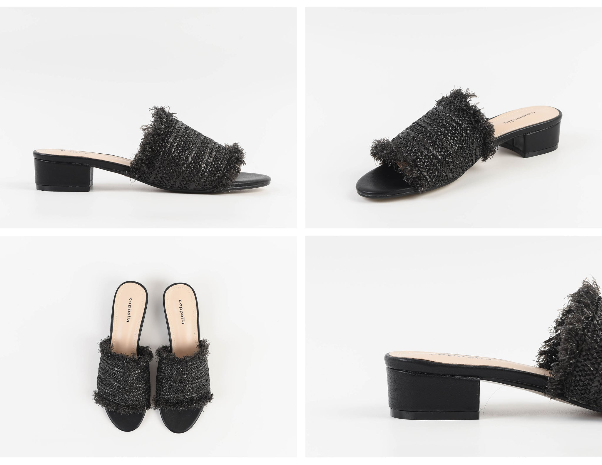 Mara Fringe Slides Black