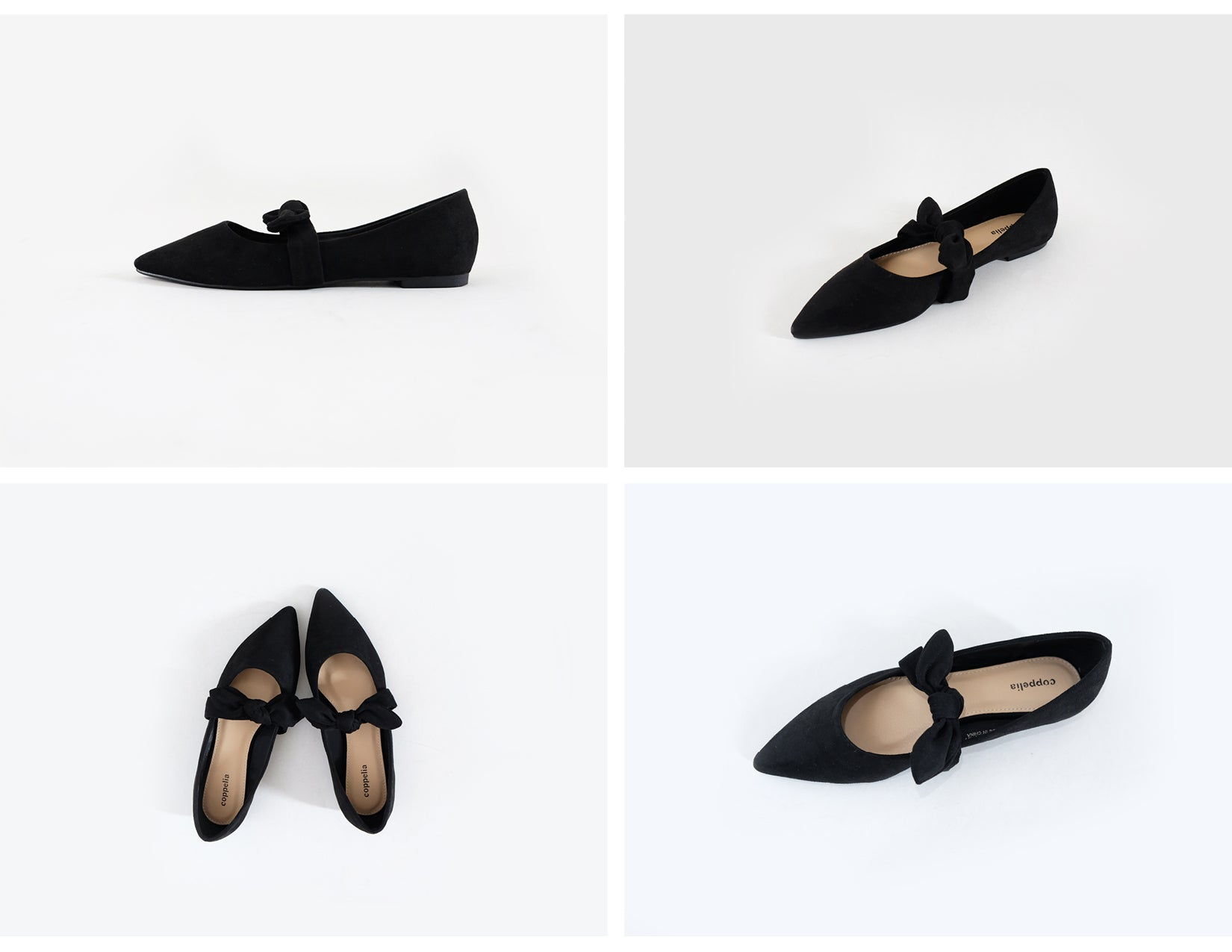 Matilda - Flats with Bow - Black