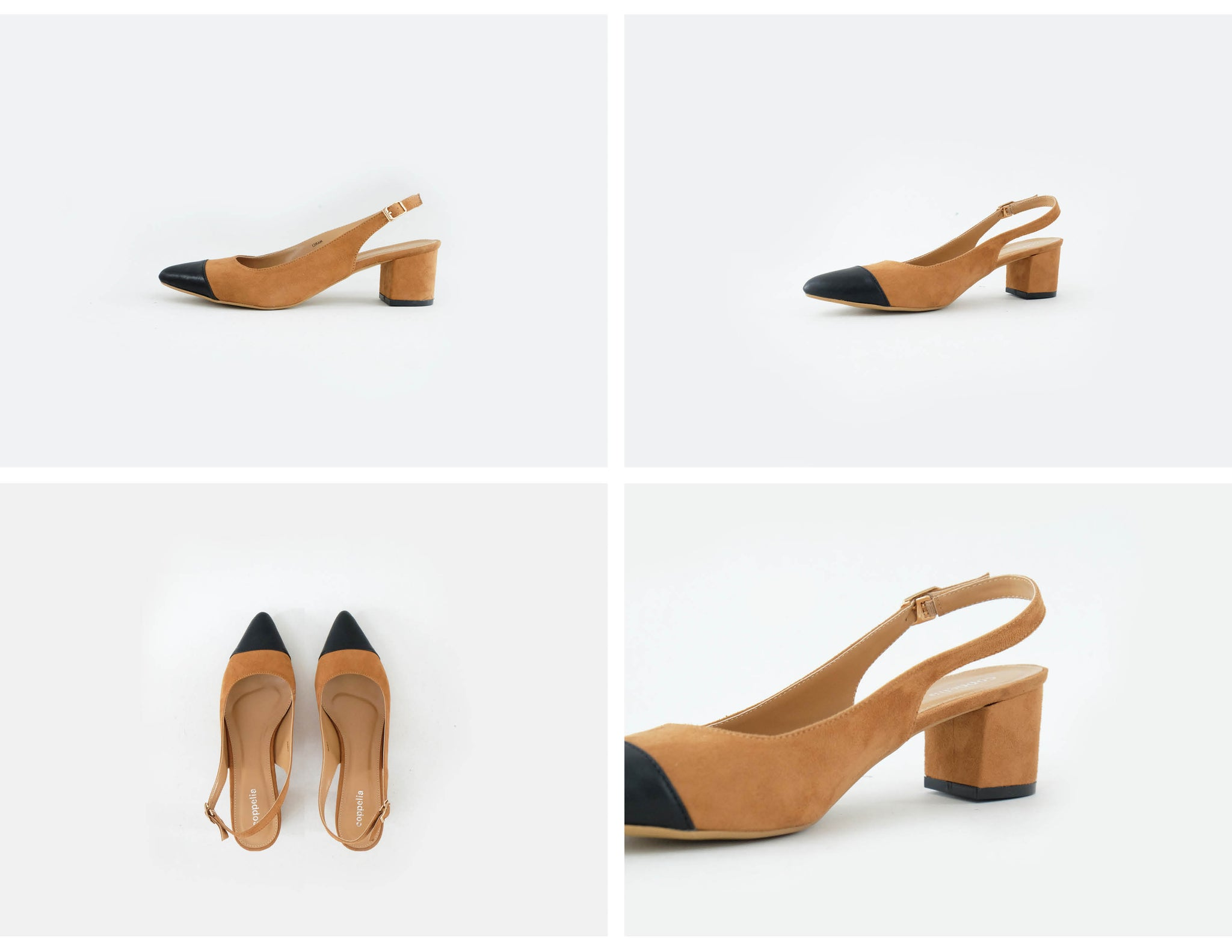 Marci Two-Toned Slingback Shoes Tan
