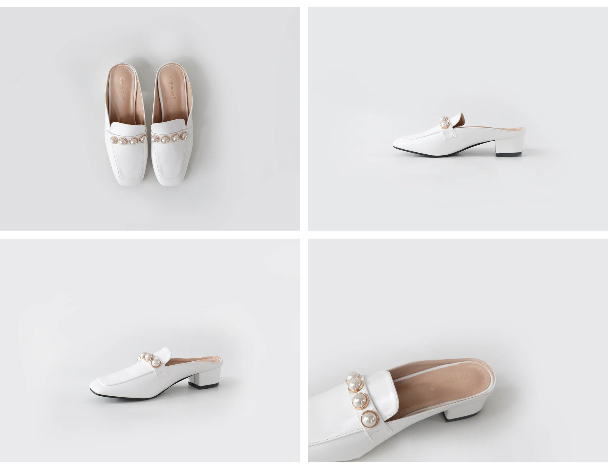 Marni Loafer Mules White