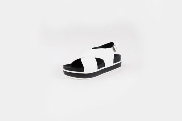 Zayn Crossover Sandals White