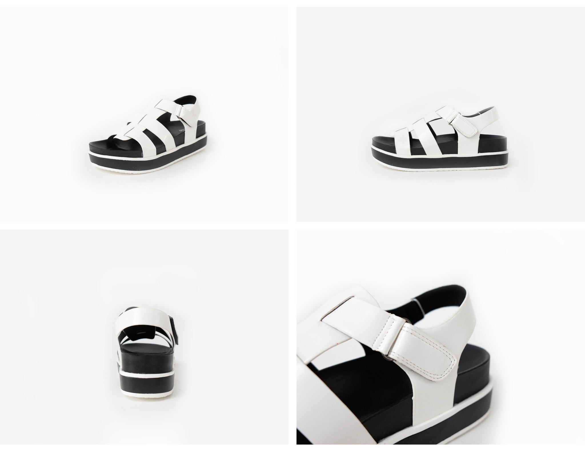 Zelda Open-Toe Sandals White