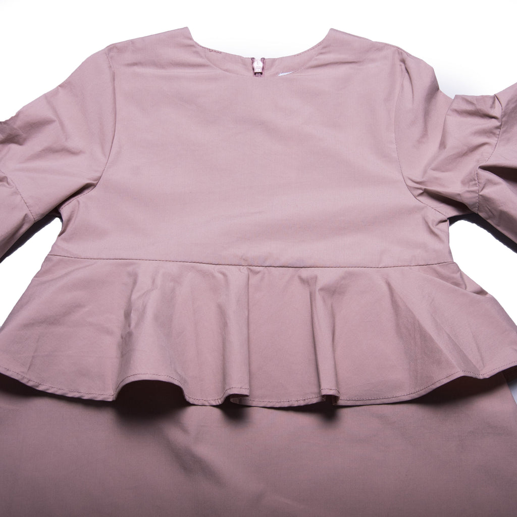 Rosalie Dress (Pale Mauve)