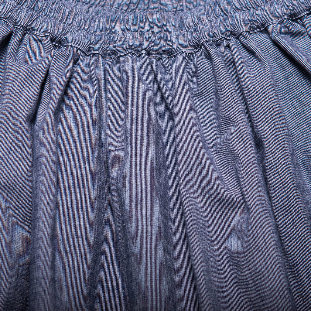 Rita Skirt (Navy Gingham Weave)
