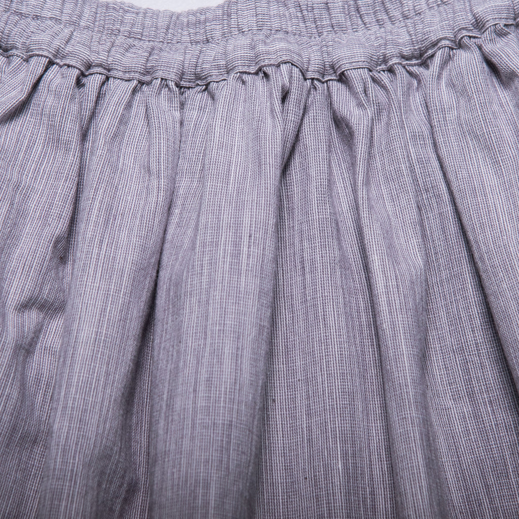 Rita Skirt (Grey Gingham Weave)