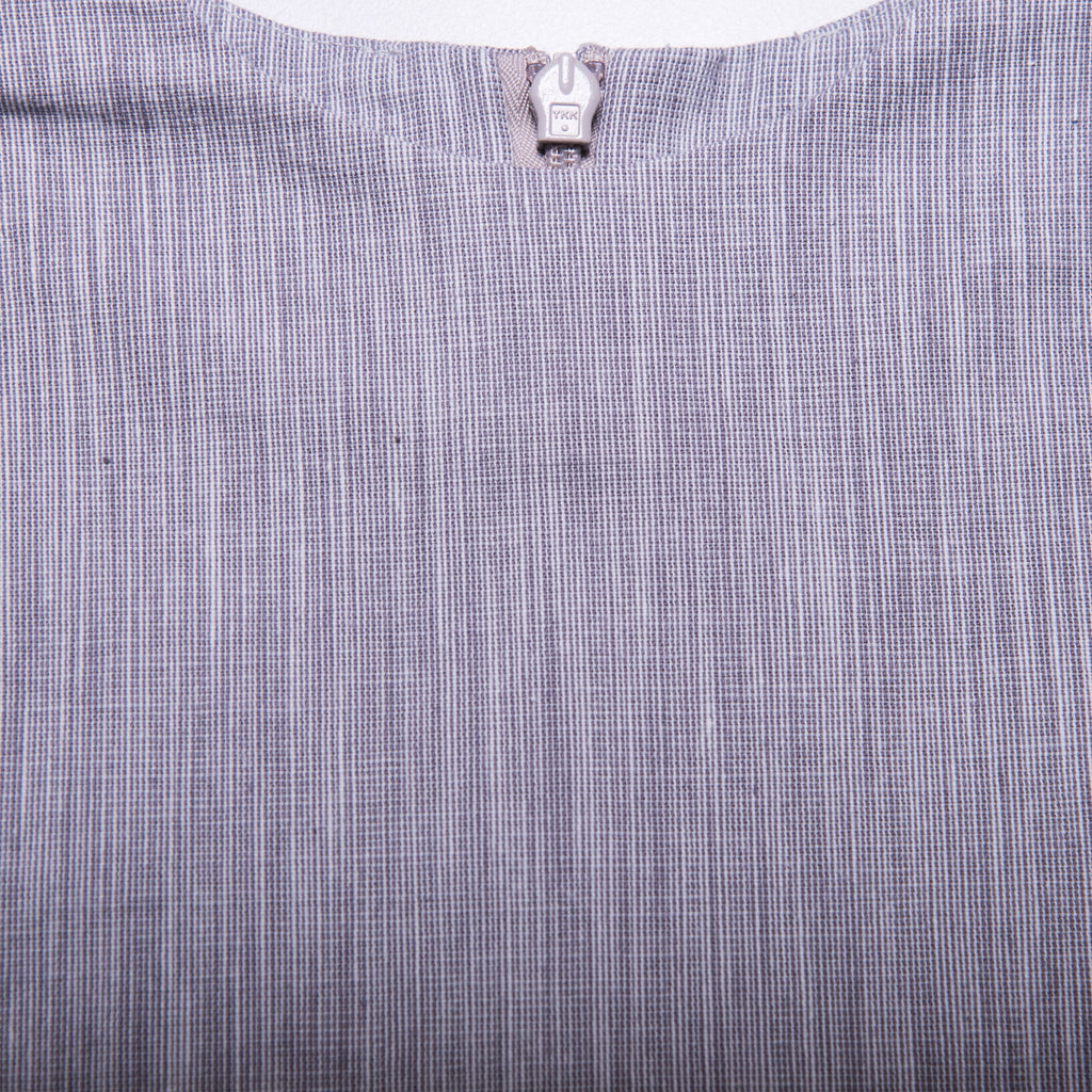 Rosie Top (Grey Gingham Weave)