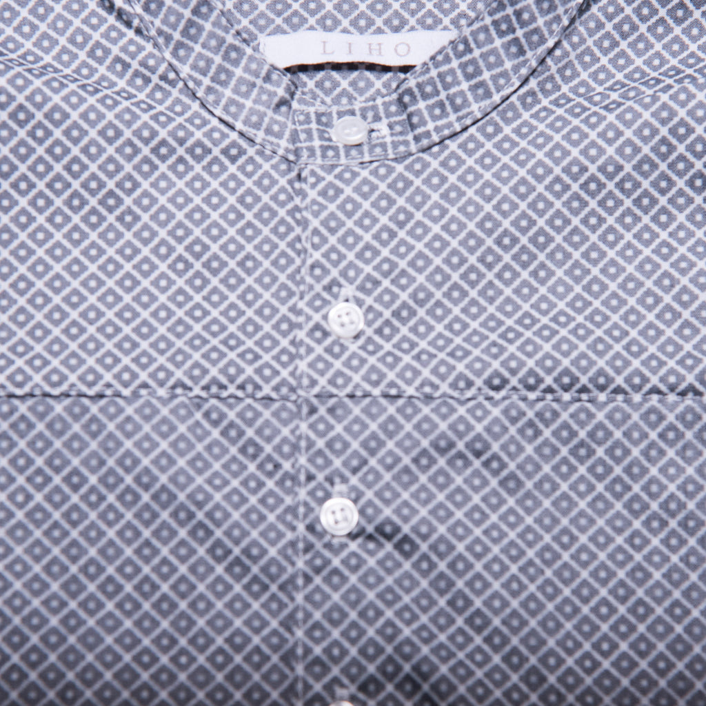 Pete Shirt with Collar (Black Diamond Weave)