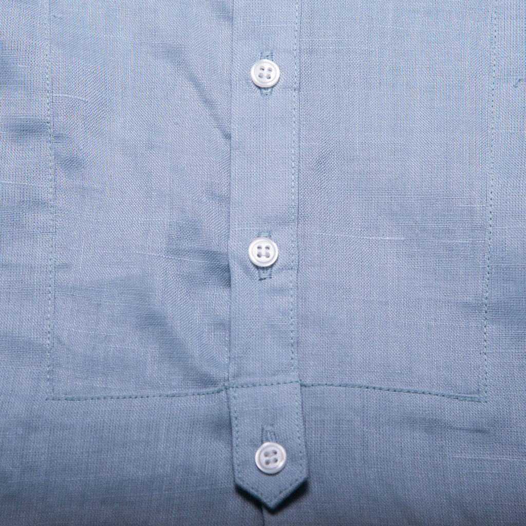 Peter Shirt with Collar (Blue Grey Linen)