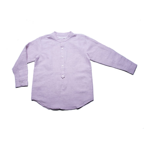Peter Shirt with Collar (Pale Lilac Linen)