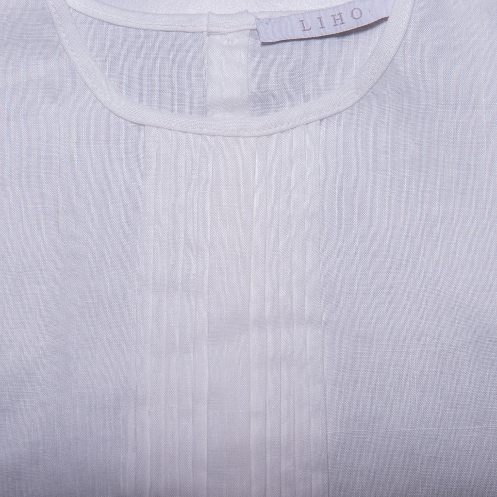 Rae Top (White Linen)