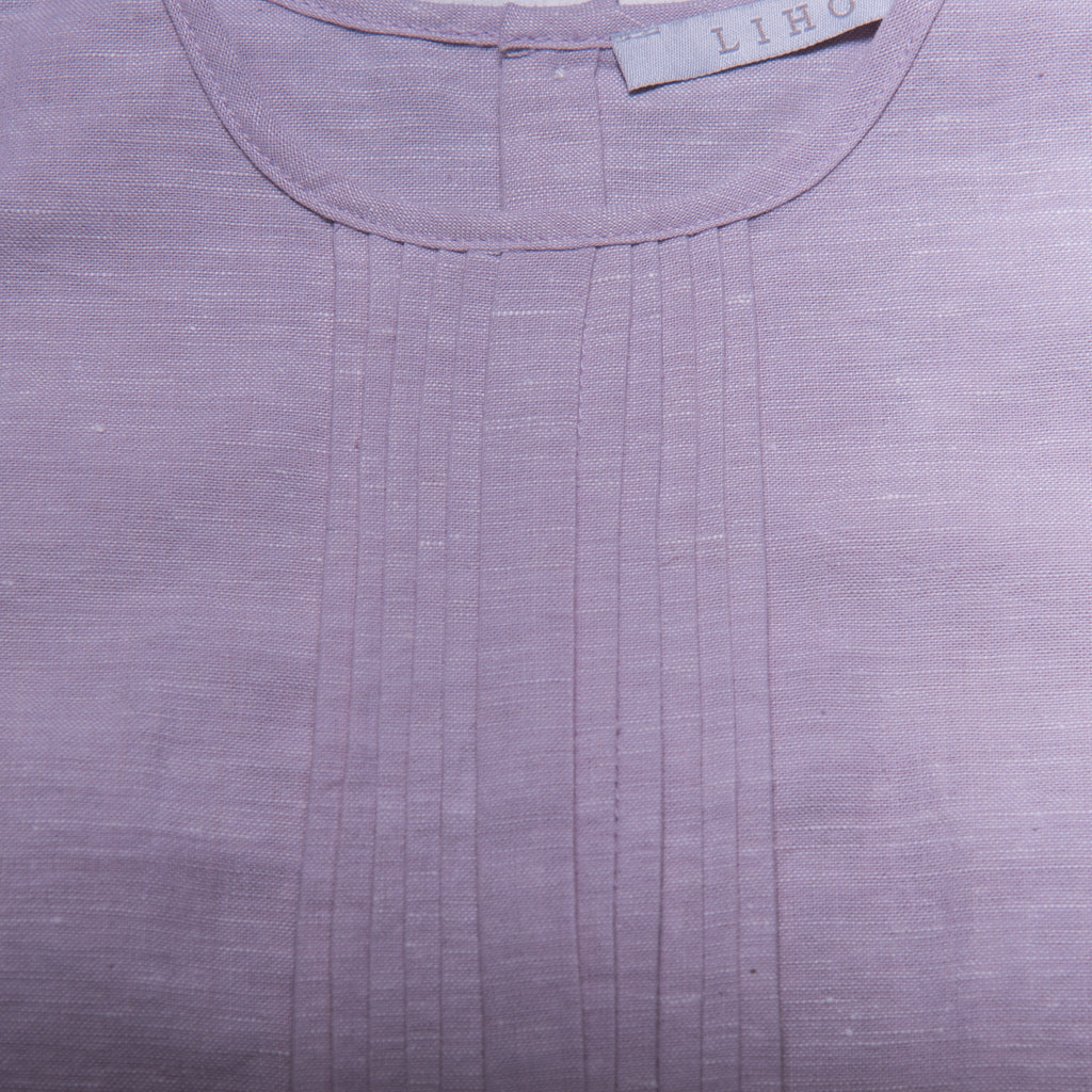 Rae Top (Pale Lilac Linen)