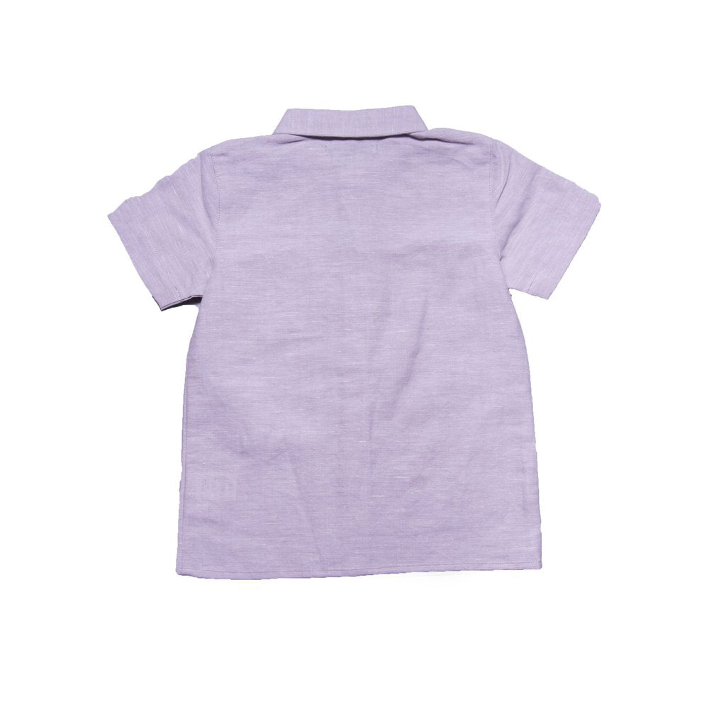 Penn Shirt with Collar (Pale Lilac Linen)