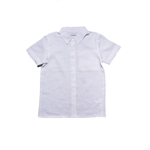 Penn Shirt with Collar (White Linen)