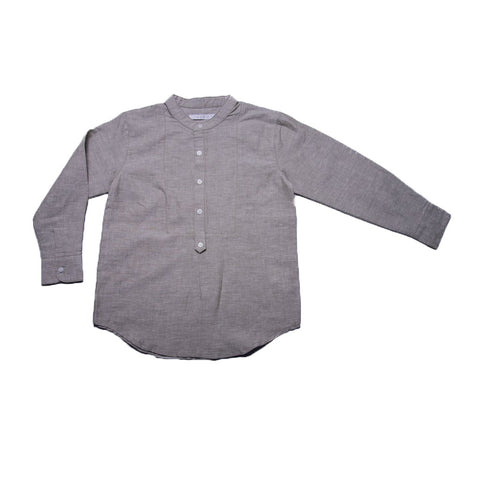 Peter Shirt with Collar (Pale Olive Linen)