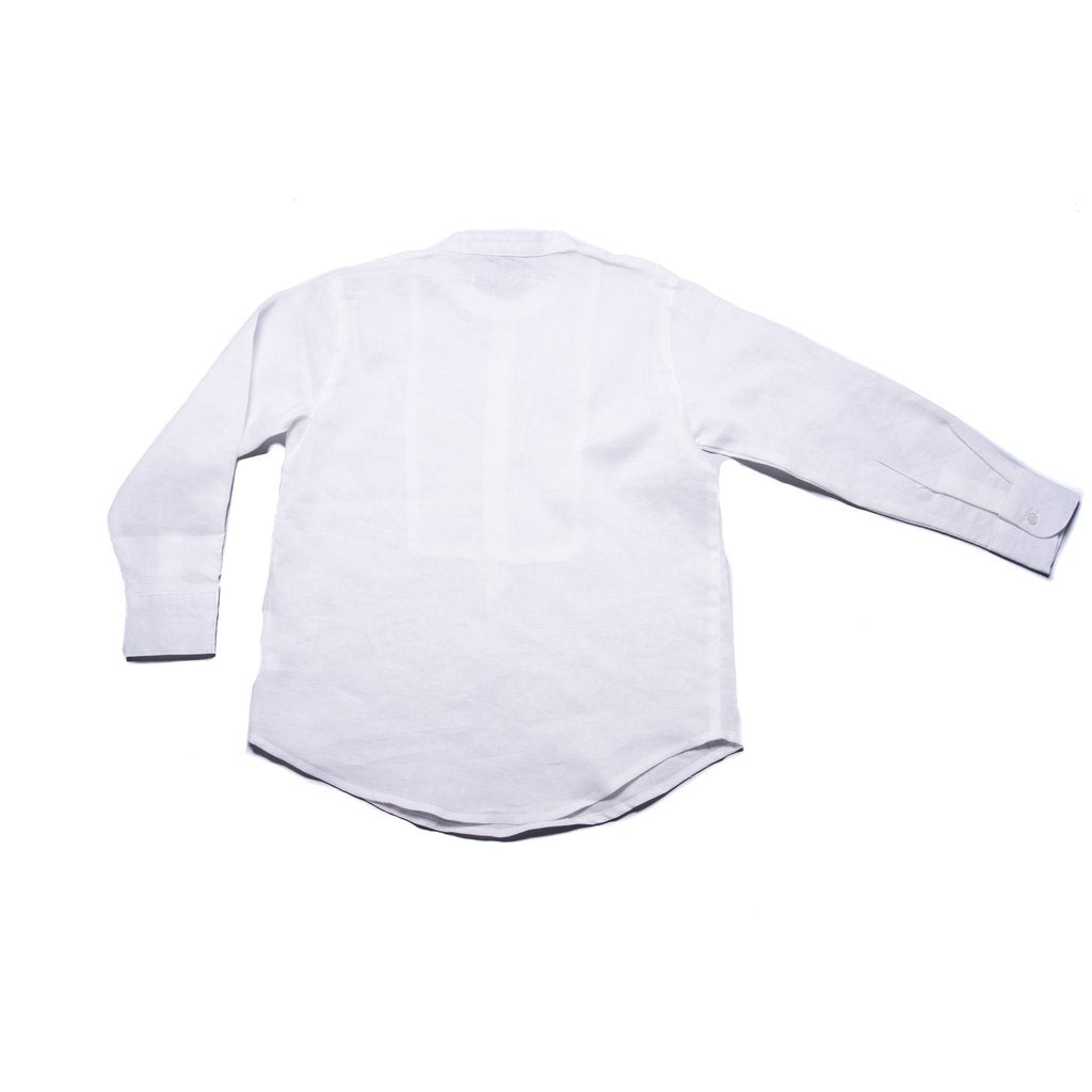 Peter Shirt with Collar (White Linen)