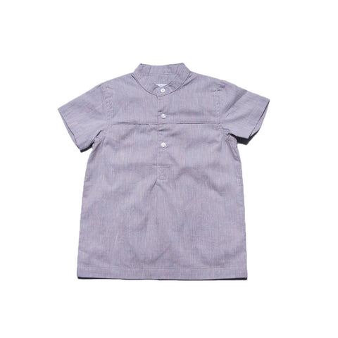 Pete Shirt with Collar (Grey Multi)