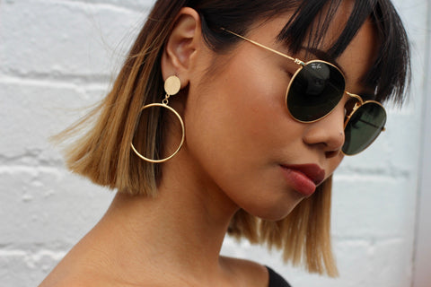 Round Hoop Earrings - Aora Jewellery