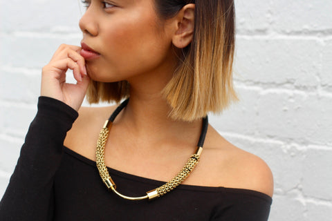 Wraped Chain Statement Necklace