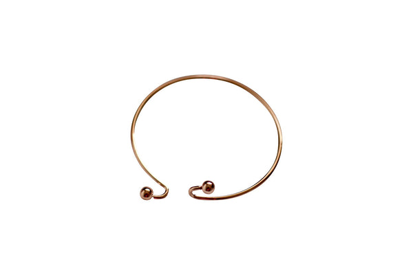 Rose Gold 18K Cuff with balls