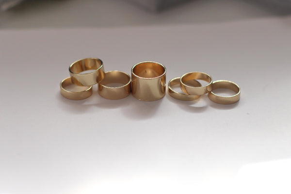 Plain Gold Statement Rings - Aora Jewellery