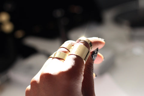 Plain Gold Statement Rings