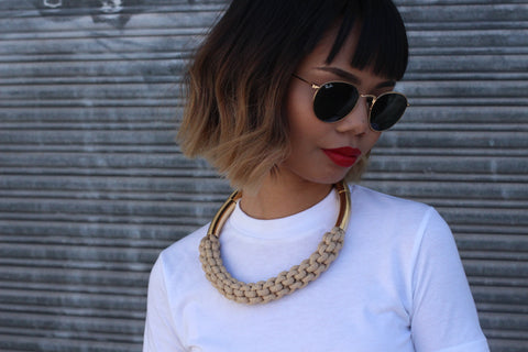 Gold Plated Rope Necklace