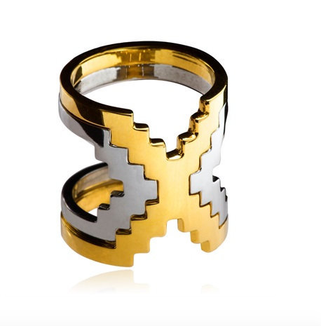 Double X Ring - Aora Jewellery