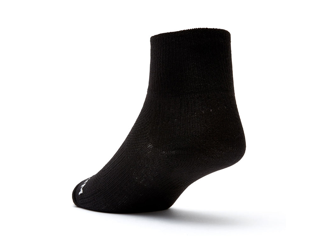 COOLMESH II - QUARTER - BLACK-Wrightsock Australia