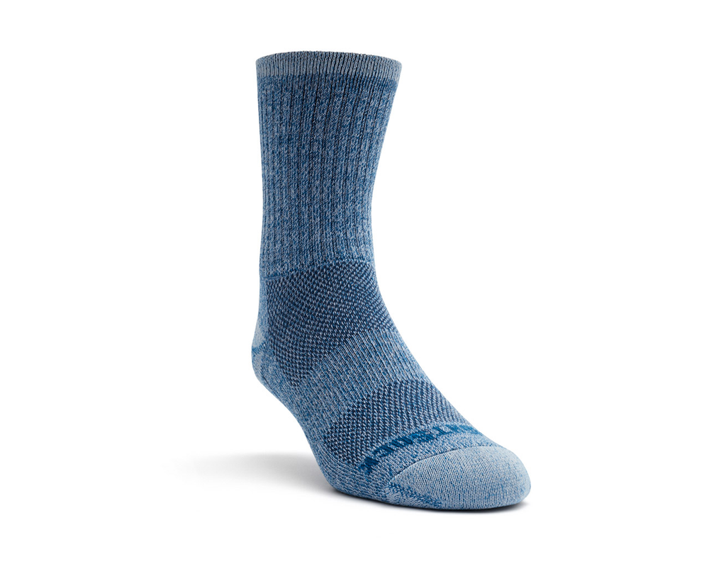 ESCAPE - CREW - BLUE TWIST-Wrightsock Australia