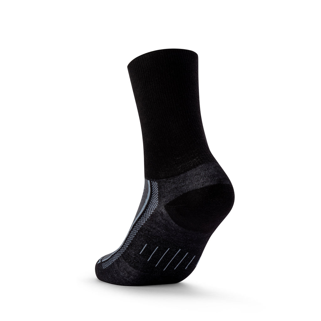 ENDURANCE SAFETY TOE - CREW - BLACK-Wrightsock Australia