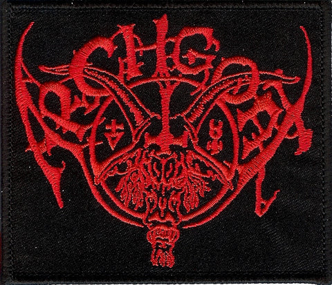 Archgoat red embroidered logo patch