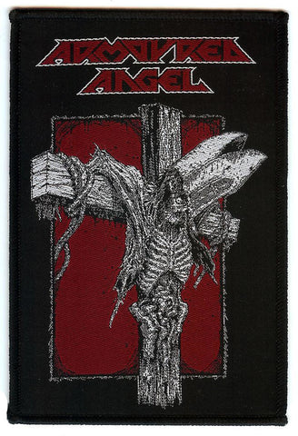 Armoured Angel Crucify The Clergy Woven Patch