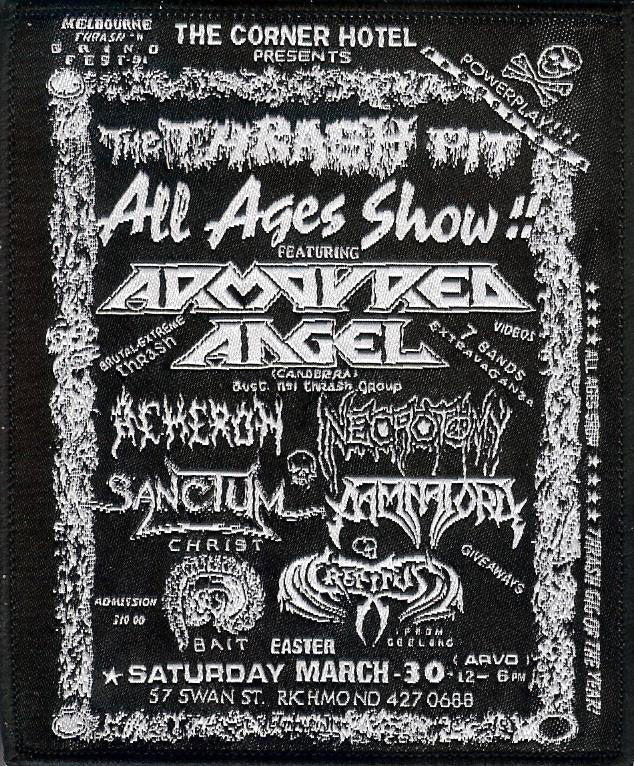 Armoured Angel Thrash Pit Gig Patch