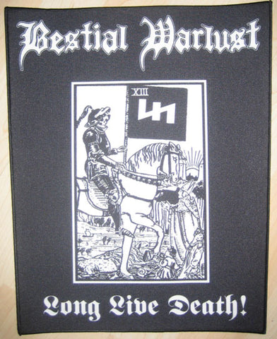 Bestial Warlust Long Live Death Backpatch
