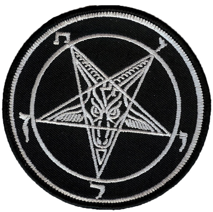 Baphomet Sigil White Patch