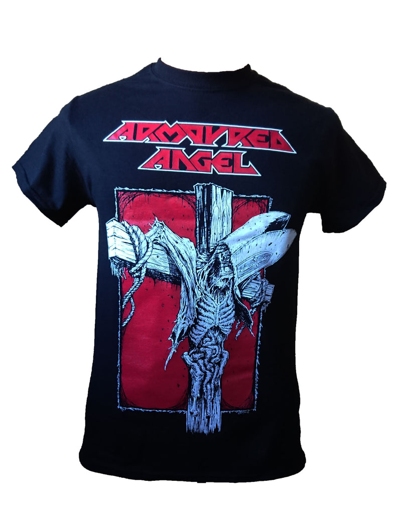 Armoured Angel Crucify Tshirt