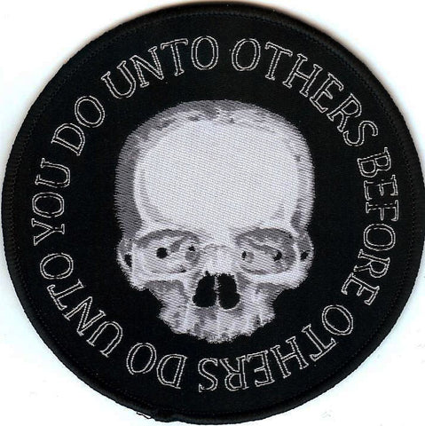 Do Unto Others Round Woven Patch