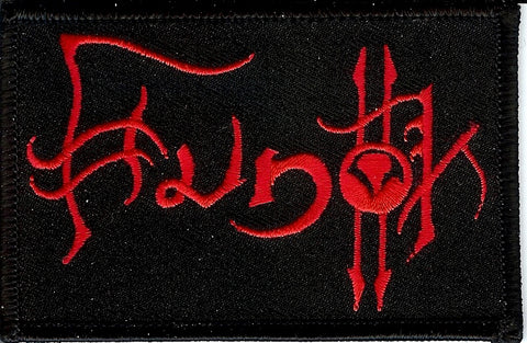Hunok Red Embroidered Patch